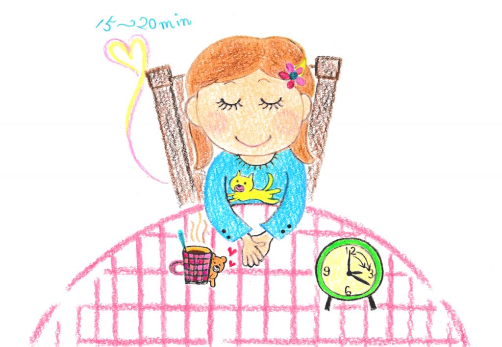昼寝か目を閉じる_カラー